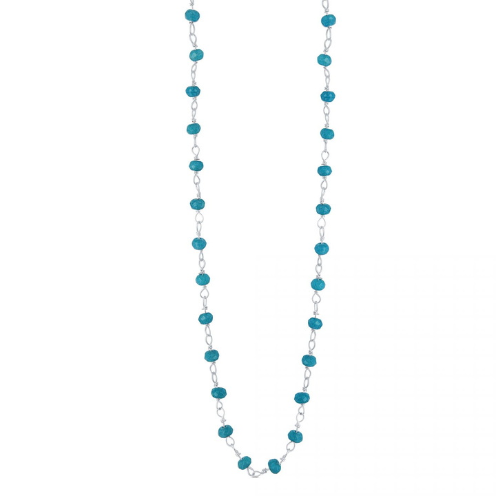 collier perles agate turquoise