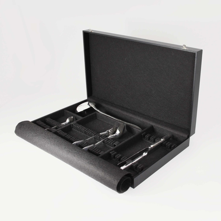 49-Piece Flatware Storage Case (black)
