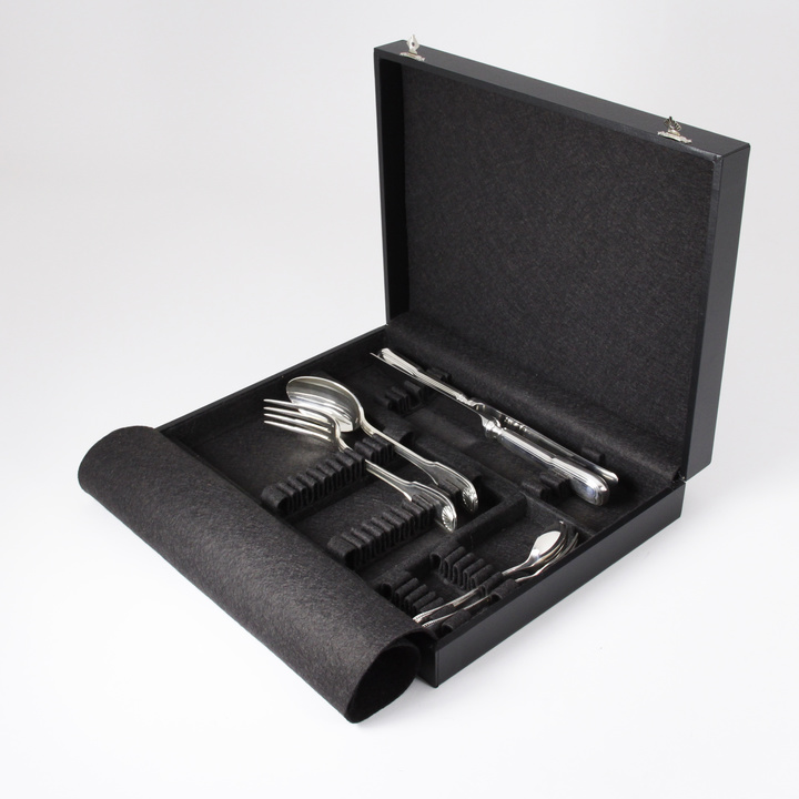24-Piece Flatware Storage Case (black)