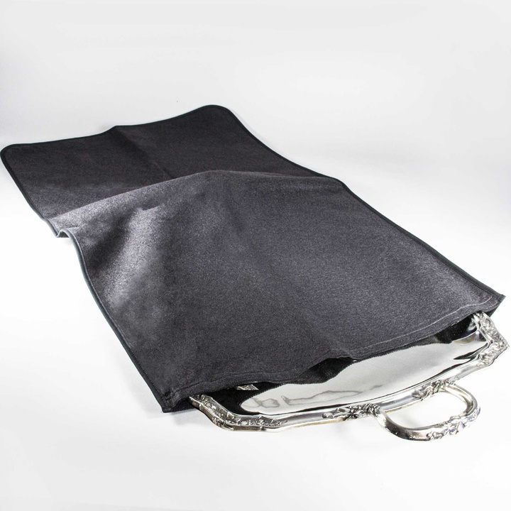 Very large tray ANTI-TARNISH CLOTH STORAGE POUCH 31,4 X 21,6 inch