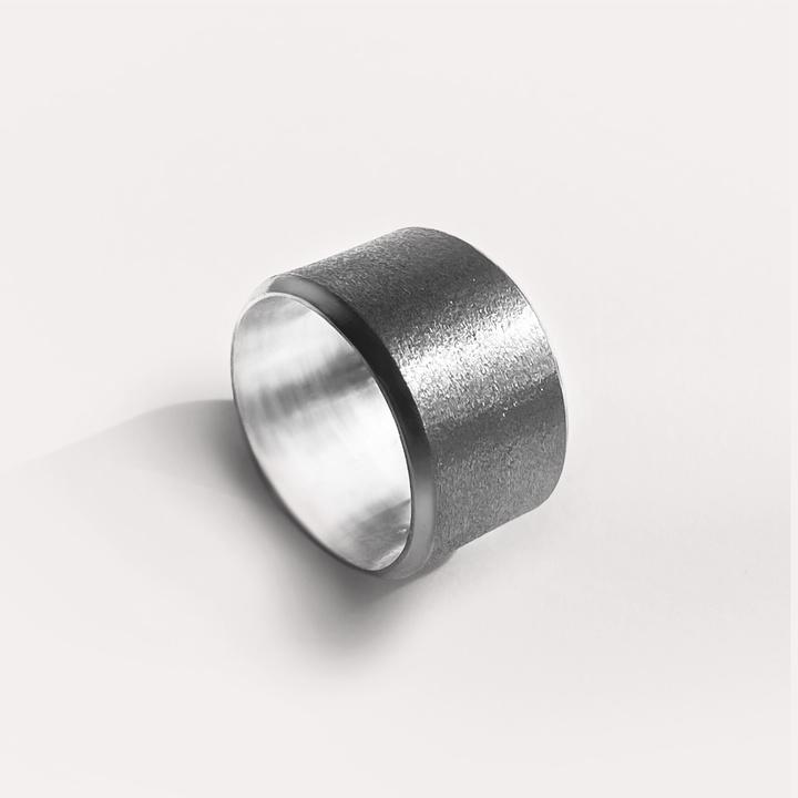 Bague irisée 13 mm argent 925