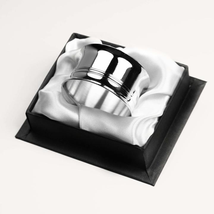 Rond de serviette Filet Ancien en métal argenté