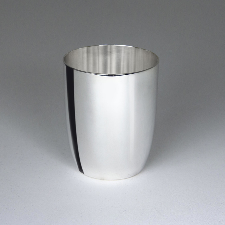 Timbale en métal argenté Tonneau Unie