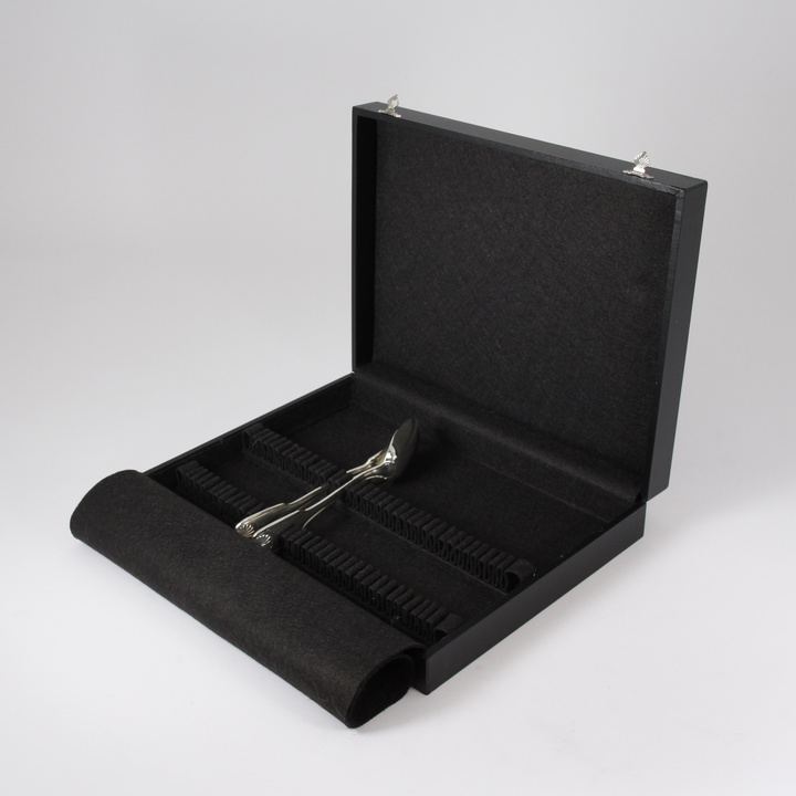 36-Pieces Flatware Storage Case (black)
