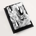 coquetier uni et sa cuillère à oeuf en métal argenté