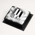 Rond de serviette droit double filets en métal argenté