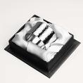 Rond de serviette Eva en métal argenté
