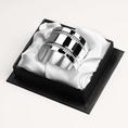 Rond de serviette Perles en métal argenté