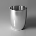 Timbale gobelet en métal argenté de naissance ou baptême gravé